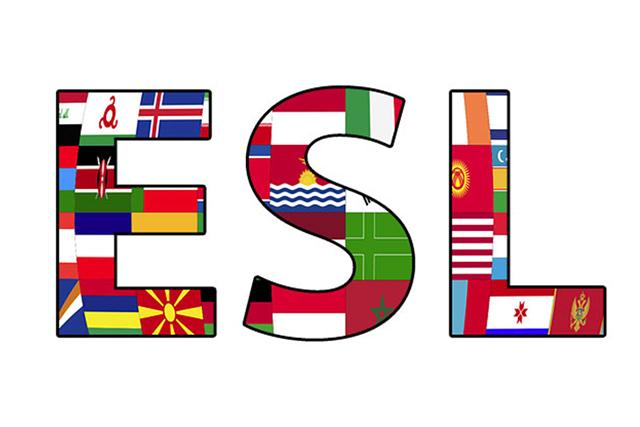 ESL letters are filled with flags